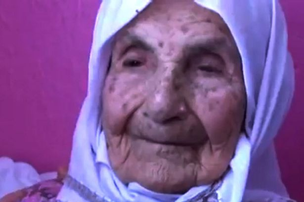A 111-year-old woman with 120 grandchildren says her secret to has been to eat and drink in moderation but to laugh as much as possible